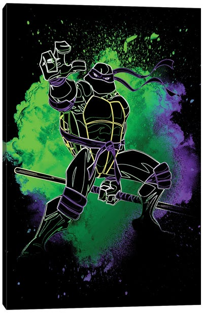 Soul Of The Purple Turtle Canvas Art Print