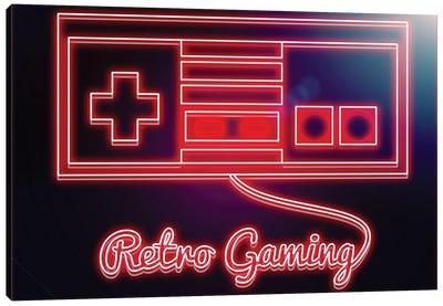 Neon Retro Gamer Canvas Art Print