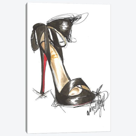 Elegant Sandal Canvas Print #DNK10} by Dorina Nemeskeri Canvas Art