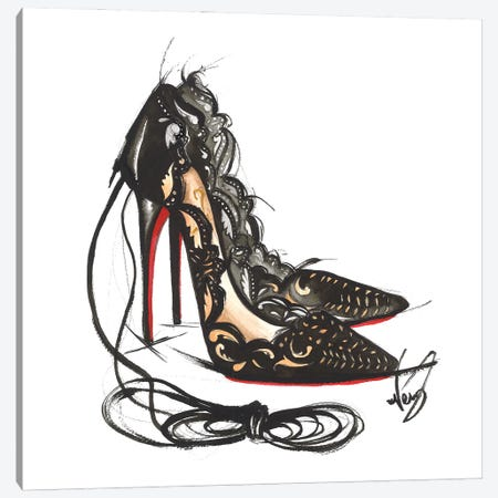 Luxury High Heels Canvas Print #DNK12} by Dorina Nemeskeri Canvas Art