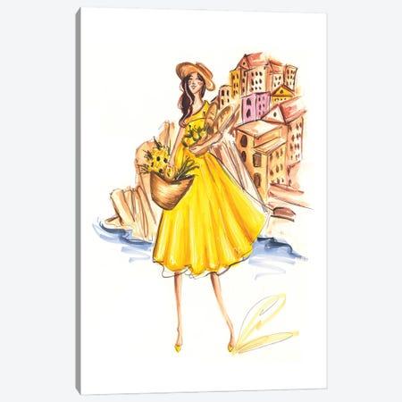Summer In Cinque Terre Canvas Print #DNK13} by Dorina Nemeskeri Canvas Art