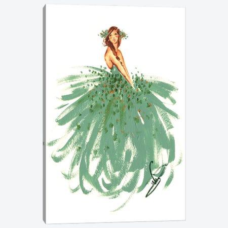 Green Fairy Canvas Print #DNK21} by Dorina Nemeskeri Art Print