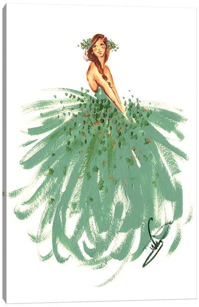 Green Fairy Canvas Art Print