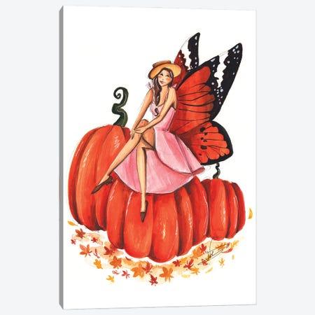 Pumpkin Fairy Canvas Print #DNK22} by Dorina Nemeskeri Art Print