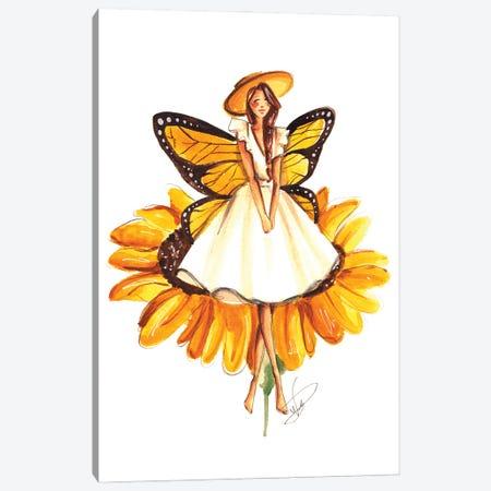 Sunflower Fairy Canvas Print #DNK23} by Dorina Nemeskeri Art Print