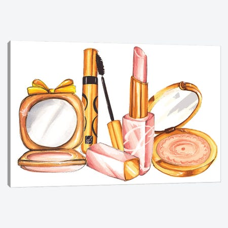 Fancy Make-Up Canvas Print #DNK24} by Dorina Nemeskeri Canvas Wall Art