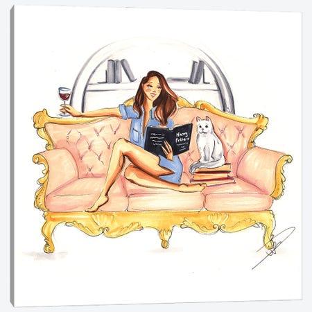 Cozy Evening Canvas Print #DNK26} by Dorina Nemeskeri Canvas Wall Art