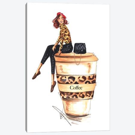 Coffee Addict Canvas Print #DNK28} by Dorina Nemeskeri Art Print