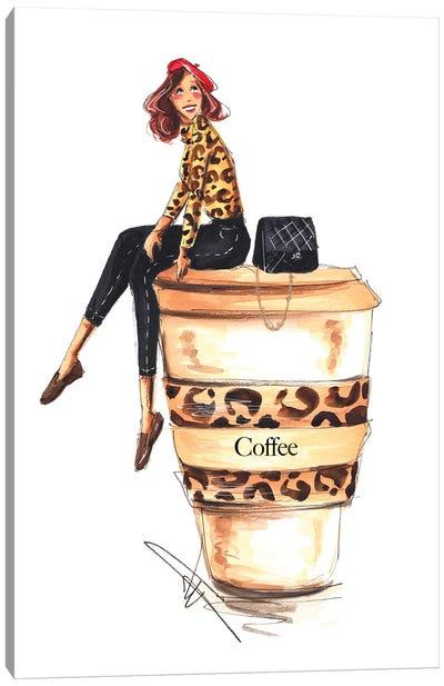 Coffee Addict Canvas Art Print