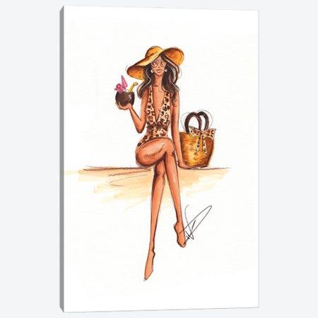 Club Tropicana Canvas Print #DNK30} by Dorina Nemeskeri Canvas Wall Art