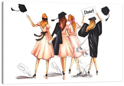 Well Done! Graduated! Canvas Art Print
