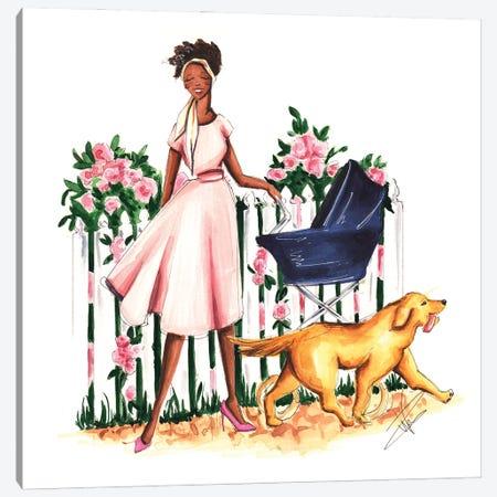 Spring Stroll Canvas Print #DNK39} by Dorina Nemeskeri Canvas Wall Art