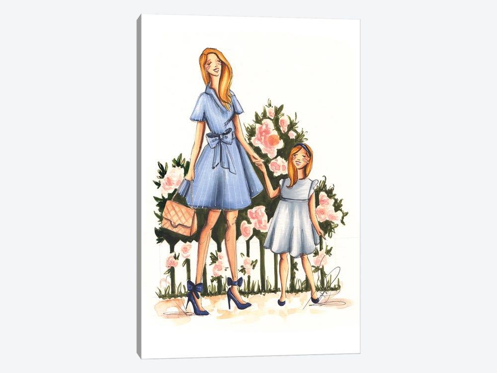 Mom And Daughter by Dorina Nemeskeri 1-piece Canvas Art Print