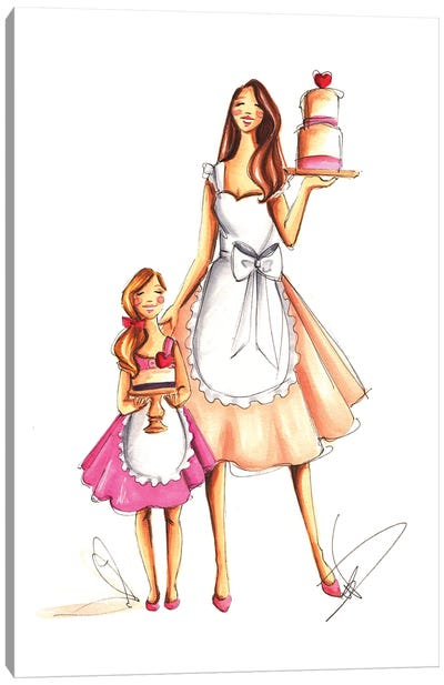 Mother's Day Baking Canvas Art Print
