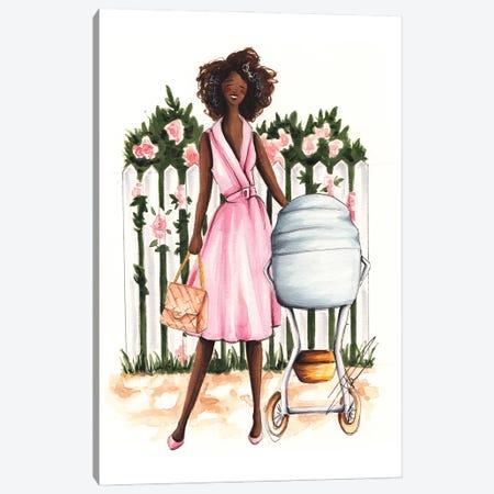 Spring Stroll With Baby Canvas Print #DNK43} by Dorina Nemeskeri Art Print
