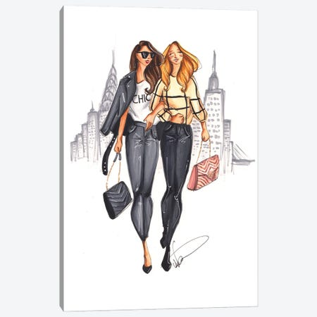 Shopping In New York Canvas Print #DNK51} by Dorina Nemeskeri Canvas Wall Art