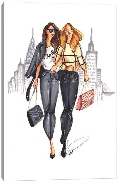 Shopping In New York Canvas Art Print