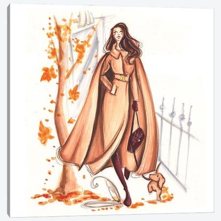 Autumn Walk Canvas Print #DNK55} by Dorina Nemeskeri Canvas Art Print