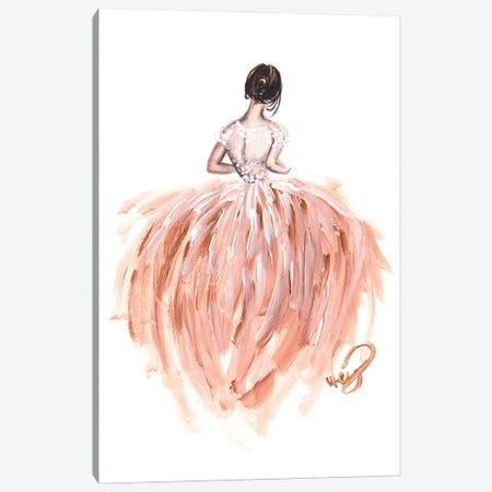 The Bride Canvas Print #DNK5} by Dorina Nemeskeri Canvas Artwork