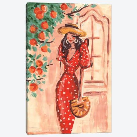 Mediterranean Lady Canvas Print #DNK60} by Dorina Nemeskeri Canvas Print