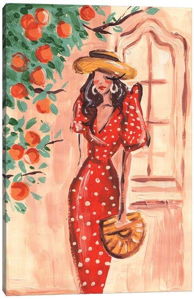 Mediterranean Lady Canvas Art Print