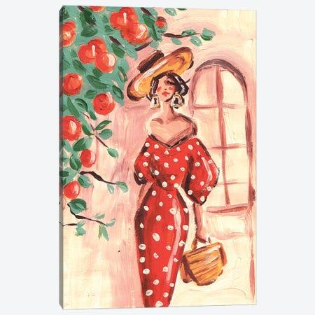 Mediterranean Woman Canvas Print #DNK62} by Dorina Nemeskeri Canvas Art Print