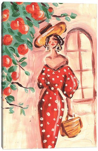 Mediterranean Woman Canvas Art Print