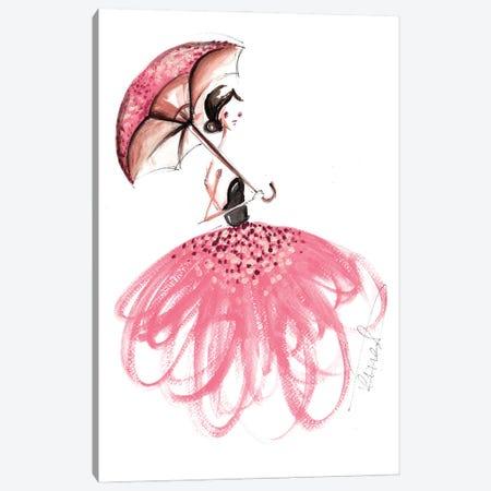 Girl With Umbrella Canvas Print #DNK63} by Dorina Nemeskeri Canvas Print