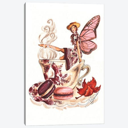 Teacup Fairy Canvas Print #DNK70} by Dorina Nemeskeri Canvas Artwork