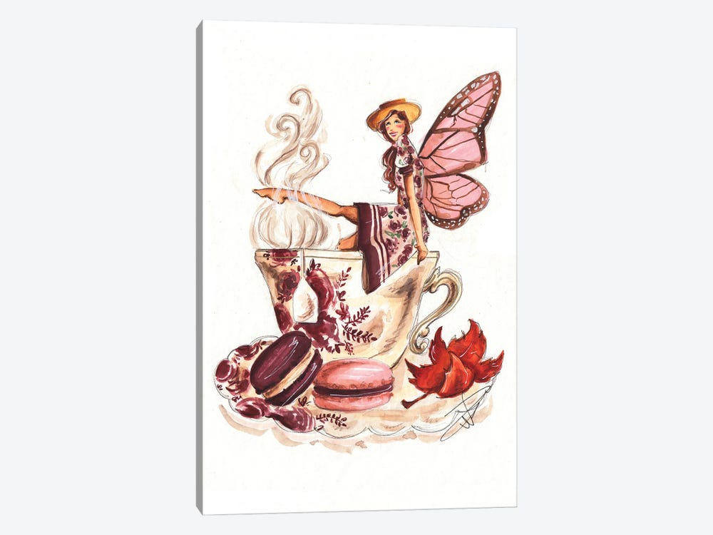 Teacup Fairy by Dorina Nemeskeri 1-piece Canvas Wall Art