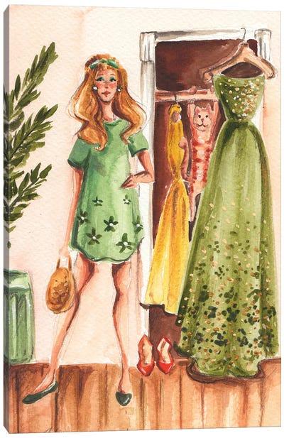60's Fashion Canvas Art Print