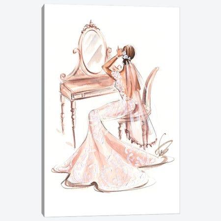 Bride In Front Of Vanity Desk Canvas Print #DNK7} by Dorina Nemeskeri Canvas Artwork