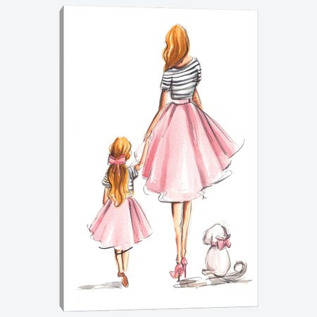 Family Walk Canvas Print #DNK81} by Dorina Nemeskeri Canvas Print