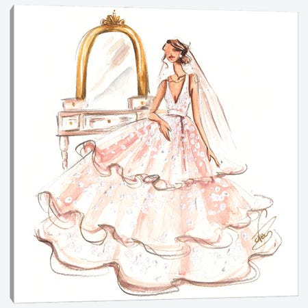 Bride Ready Canvas Print #DNK9} by Dorina Nemeskeri Canvas Print