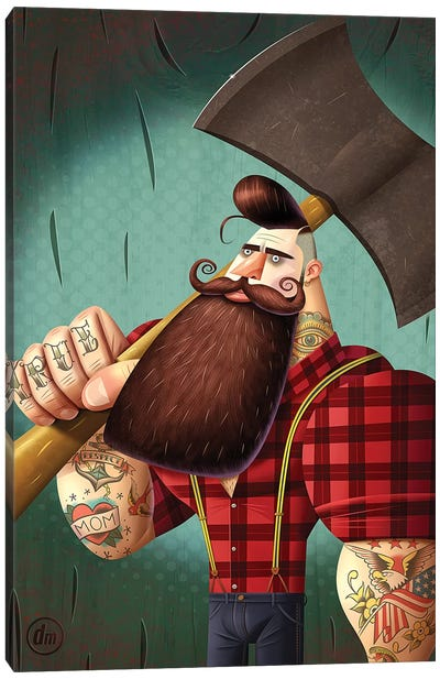 Lumberjack Canvas Art Print