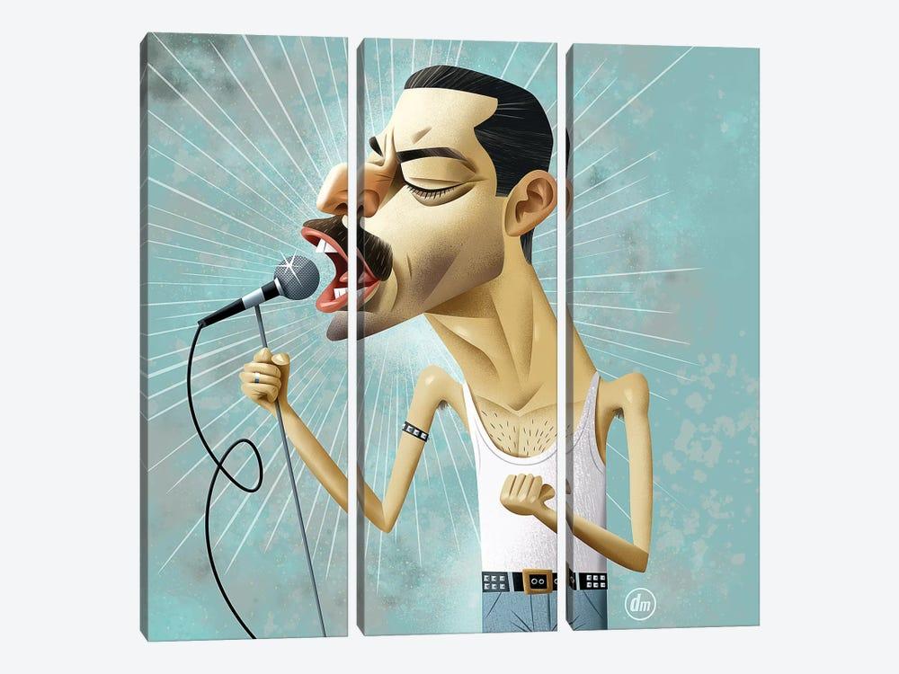Rami Malek by Dean MacAdam 3-piece Canvas Art Print