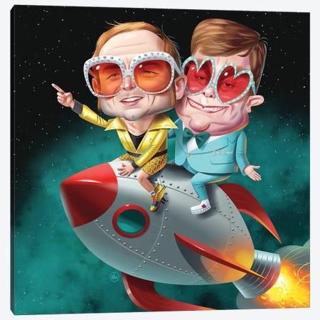 Rocketmen Canvas Print #DNM15} by Dean MacAdam Canvas Print