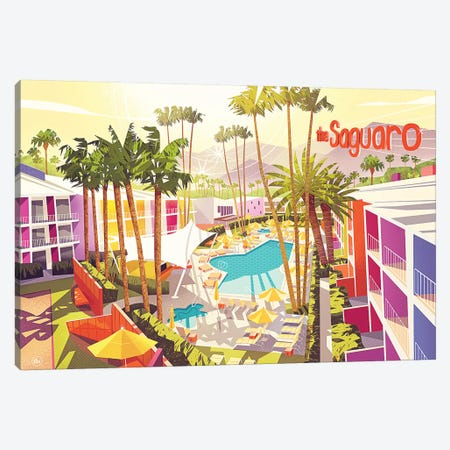 Saguro Palm Springs Canvas Print #DNM16} by Dean MacAdam Art Print