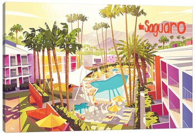 Saguro Palm Springs Canvas Art Print