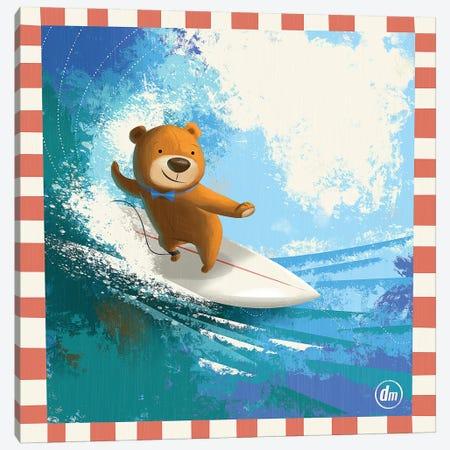 Surfing Teddy Canvas Print #DNM21} by Dean MacAdam Canvas Print