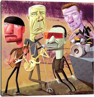 U2 Canvas Art Print