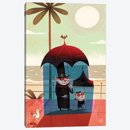 Vampires On The Beach Canvas Print #DNM23} by Dean MacAdam Art Print