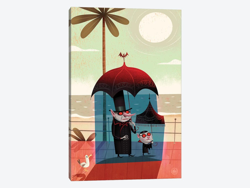 Vampires On The Beach by Dean MacAdam 1-piece Canvas Art