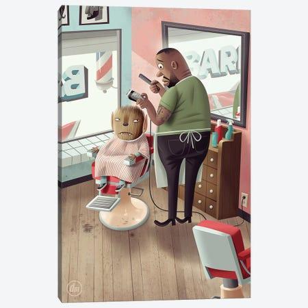 Werewolf At The Barber Canvas Print #DNM25} by Dean MacAdam Canvas Art