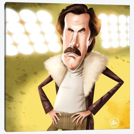 Will Ferrell Anchorman Canvas Print #DNM26} by Dean MacAdam Canvas Art