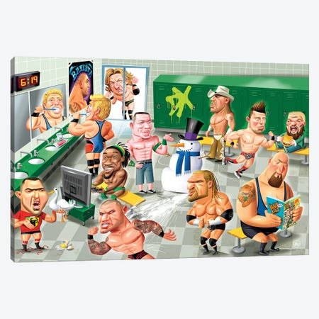 WWE LockerRoom 3-Piece Canvas #DNM27} by Dean MacAdam Canvas Wall Art