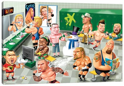 WWE LockerRoom Canvas Art Print