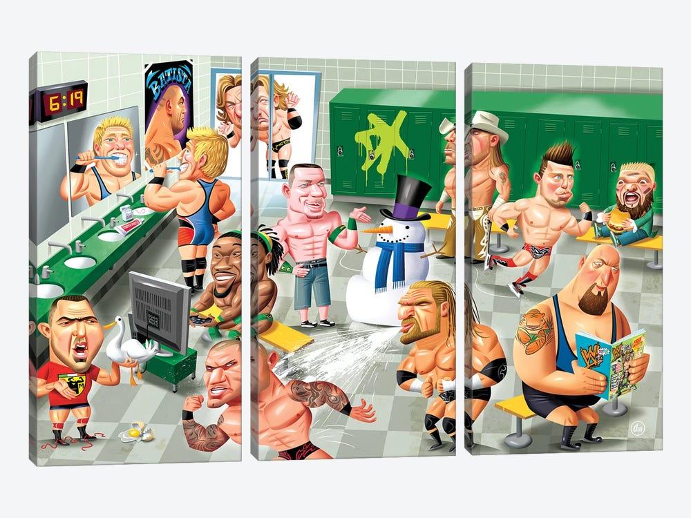 WWE LockerRoom by Dean MacAdam 3-piece Canvas Artwork