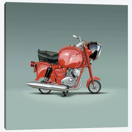 Moto Guzzi Lodola Gran Turismo Canvas Print #DNM29} by Dean MacAdam Canvas Art Print