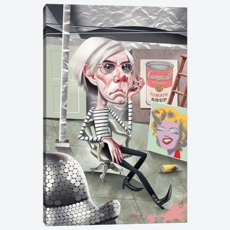 Andy Warhol 3-Piece Canvas #DNM2} by Dean MacAdam Canvas Art Print